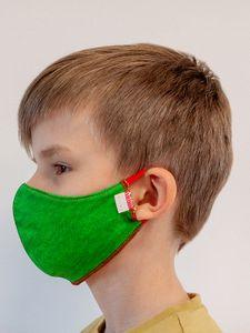 Maseczka dziecięca GREEN wielorazowa z filtrem