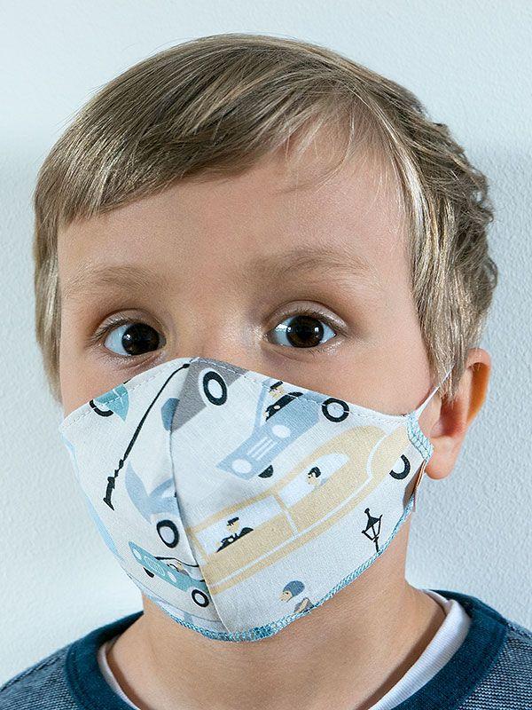 Maseczka dziecięca CARS wielorazowa z filtrem