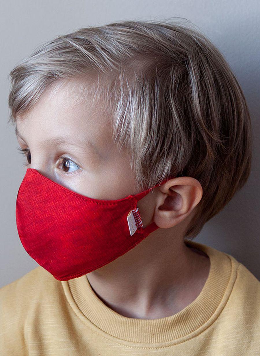 Maseczka dziecięca RED wielorazowa z filtrem