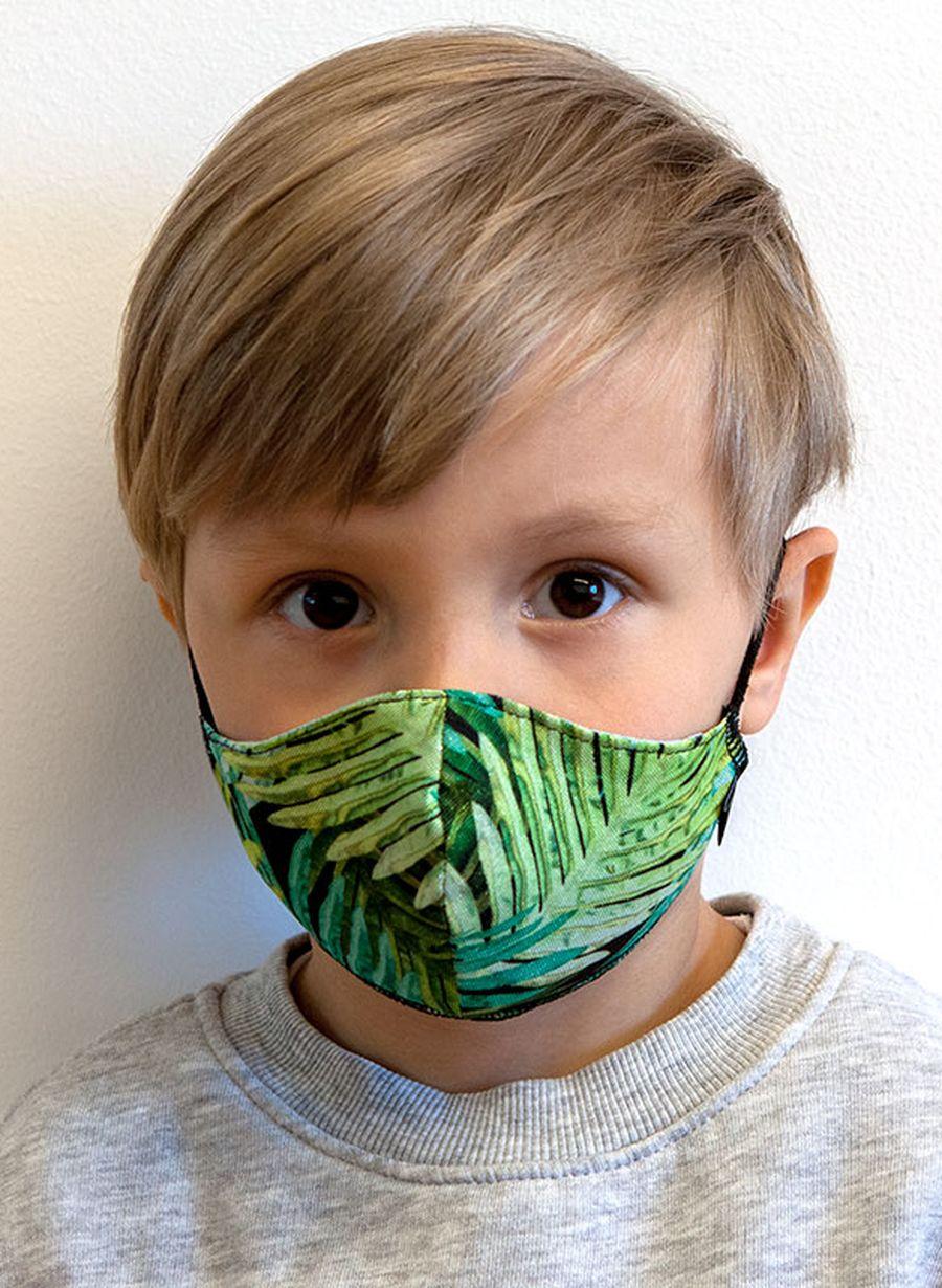 Maseczka dziecięca TROPICAL wielorazowa z filtrem
